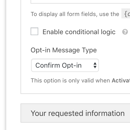 Borlabs Opt-in Settings Notification